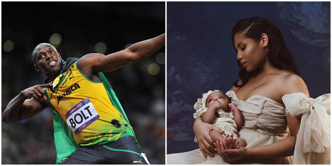 Usain Bolt has shared the first pictures of his baby girl