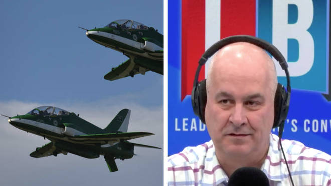 Saudi Hawk jets are among the arms sold to the Arabic kingdom by the UK, which the caller told Iain causes untold destruction