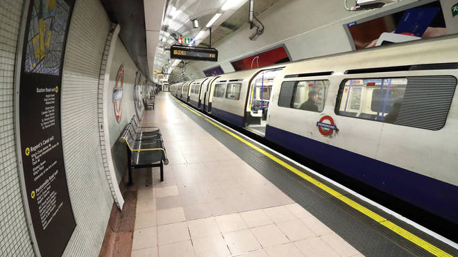 File photo: A Piccadilly Line train at London Kings Cross St Pancras Tube station