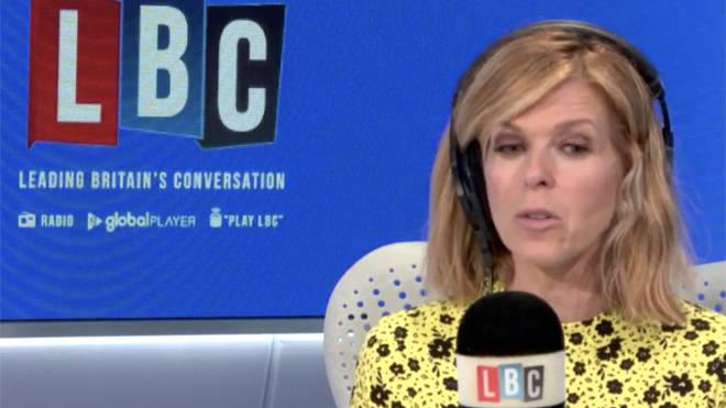 Kate Garraway was speaking to James O'Brien on LBC today