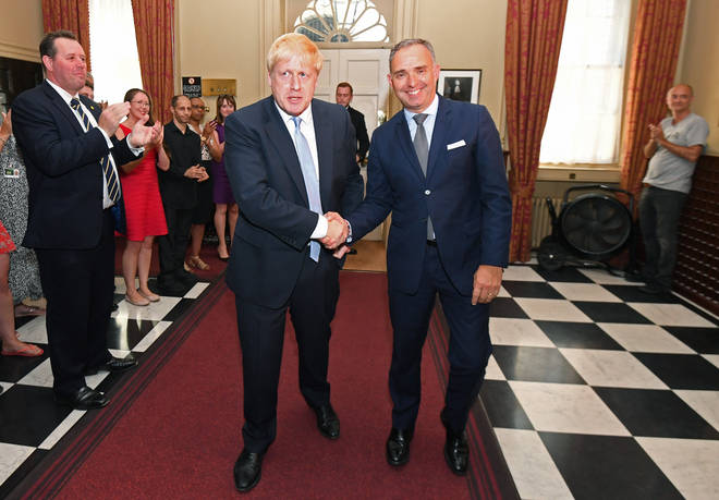 Sir Mark Sedwill with Boris Johnson