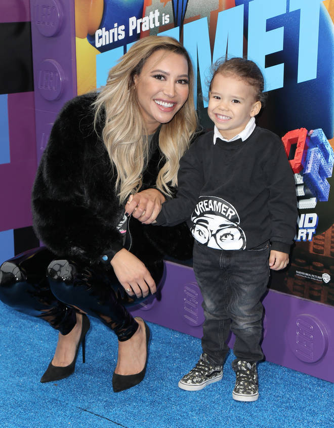 Naya and her son Josey pictured at a premiere last year