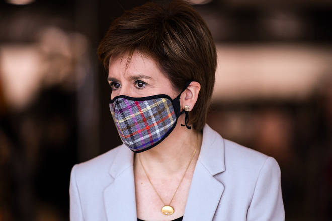 File photo: The First Minister reminded the Scottish public that face coverings become mandatory from Friday