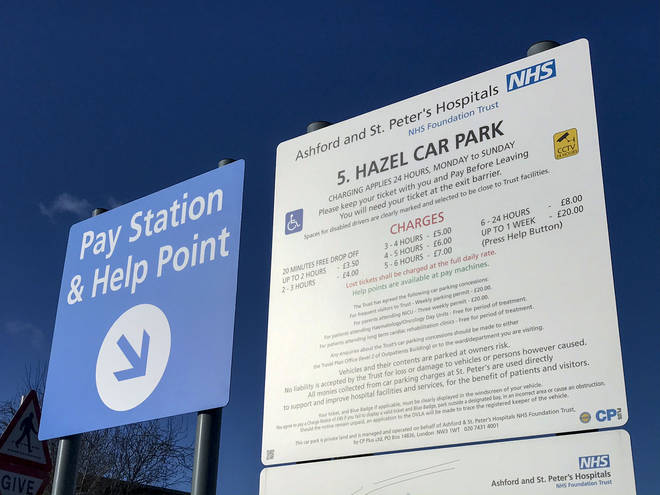 The government made hospital car parking free for NHS staff at the start of the coronavirus crisis