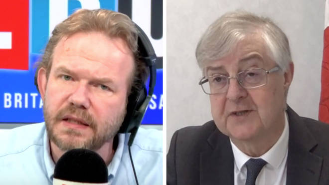 Mark Drakeford told James O'Brien that he hasn't spoken to Boris Johnson for six weeks