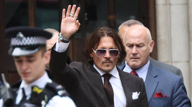 Actor Johnny Depp leaving the High Court in London after a hearing in his libel case against the publishers of The Sun and its executive editor, Dan Wootton