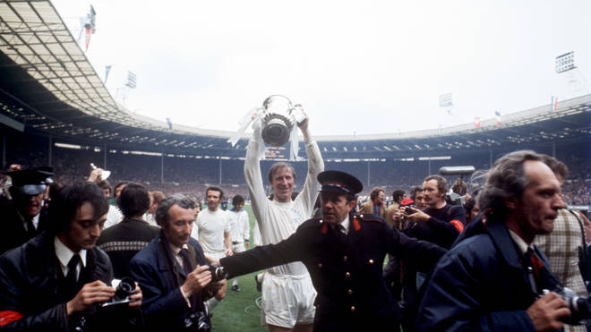 Jack Charlton lifted the FA Cup with Leeds United in 1972