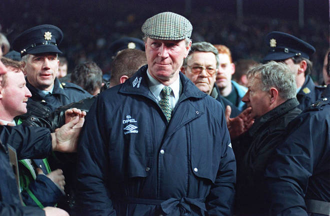 Jack Charlton when he was Ireland manager in 1995