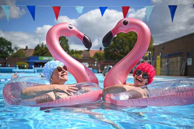 Swimmers returned to Charlton Lido and Lifestyle Club in London on Saturday