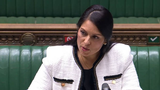 "Priti Patel expressed concern at the ""false"" claims"