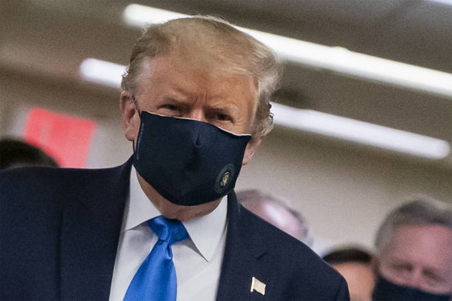 Trump has never been publicly seen wearing a mask before