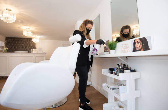 Beauty salons will be able to reopen for the first time in more than four months