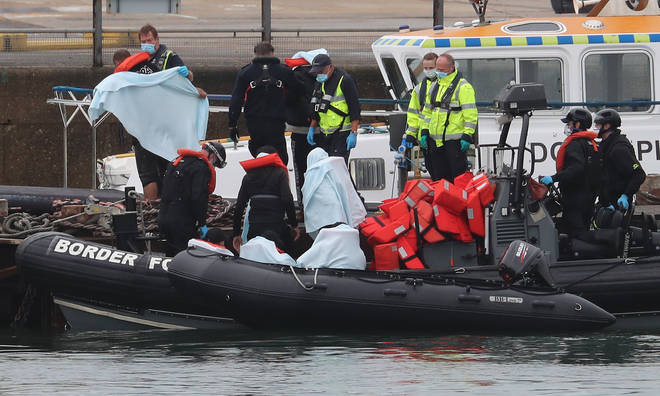 The Home Office confirmed around 380 migrants attempted to cross the Channel at the weekend