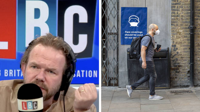 """""""People who object to face masks voted Brexit,"""" caller tells James O&squot;Brien"""
