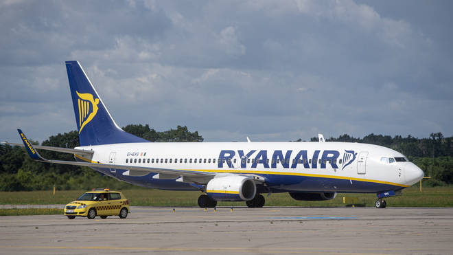 A Ryanair flight was escorted to Stansted Airport by two RAF fighter jets