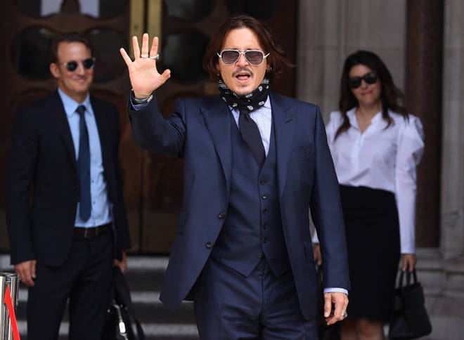 Johnny Depp has finished giving evidence but was still present at the trial on Tuesday