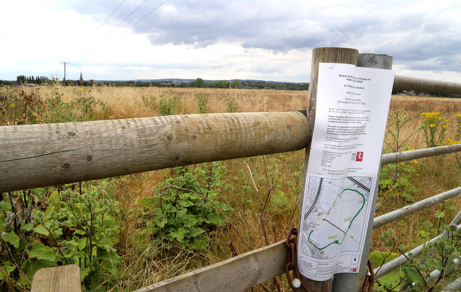 Land around Sevington in Ashford, Kent, as the Department for Transport is understood to be in the process of buying a 27-acre site near Ashford as it gears up to leave the EU