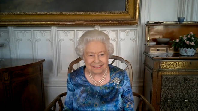 The Queen chuckled upon hearing the serviceman's training regime
