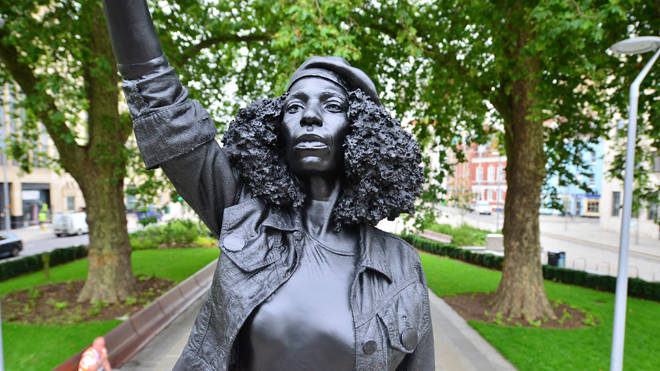 A statue of protester Jen Reid now stands on the plinth