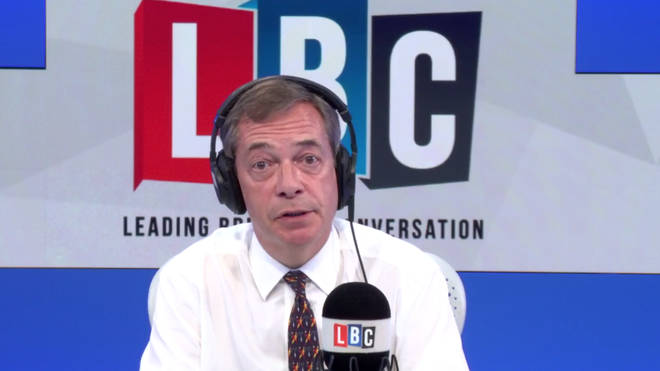 Nigel Farage was discussing a new report on migration when Gordon phoned him