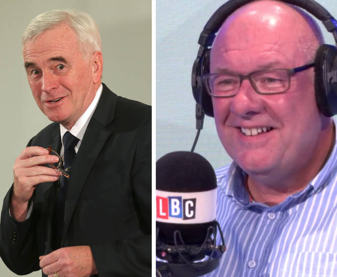 John McDonnell interrupted an LBC phone-in on Tuesday evening