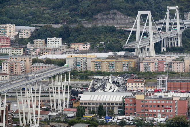 43 people died in the collapse of the Morandi Bridge