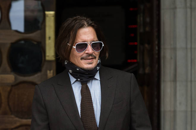 Johnny Depp outside court on Wednesday
