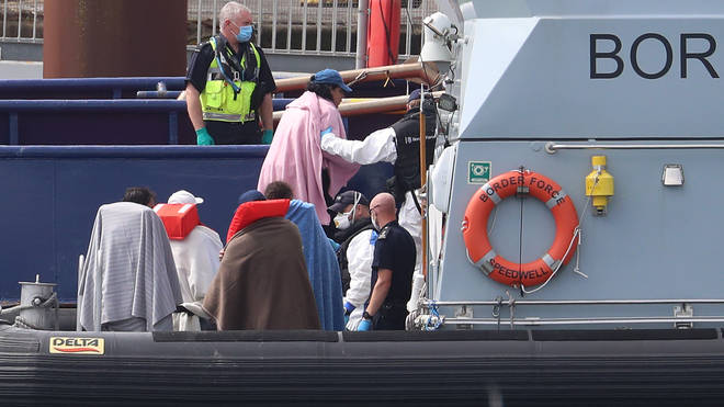 The UK Border Force is obliged to bring people to British shores if they board one of their boats