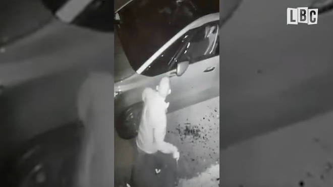 Dean Lally hammers his neighbours' car with a bike lock