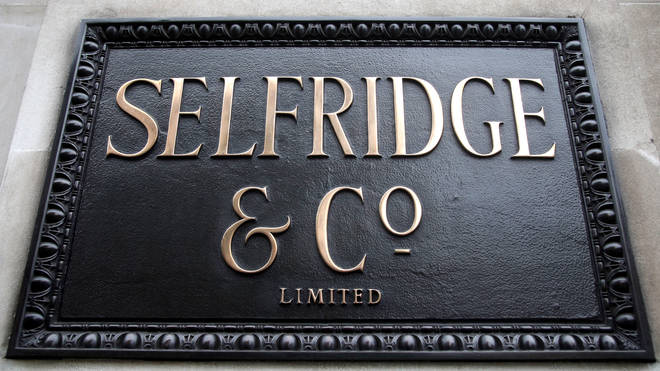 The incident was said to have happened in Selfridges on Oxford Street