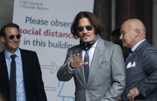 Actor Johnny Depp arrives at the High Court in London on Thursday