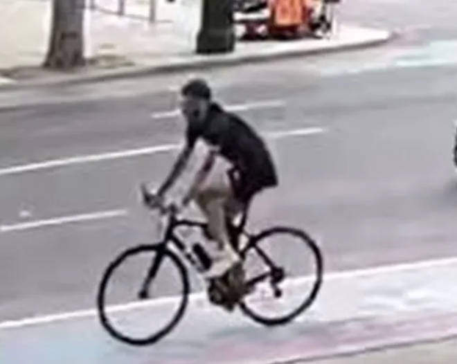Police issued CCTV of a cyclist they want to trace