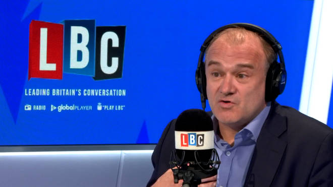 Sir Ed Davey was speaking to LBC's Iain Dale