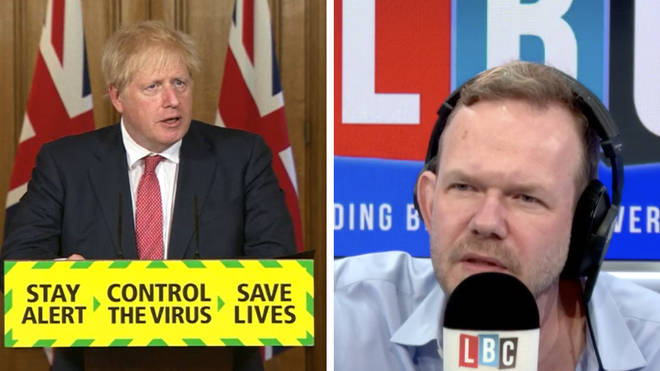 "James O&squot;Brien said that Boris Johnson congratulating our British common sense ""lays the groundwork for it all being our fault."""