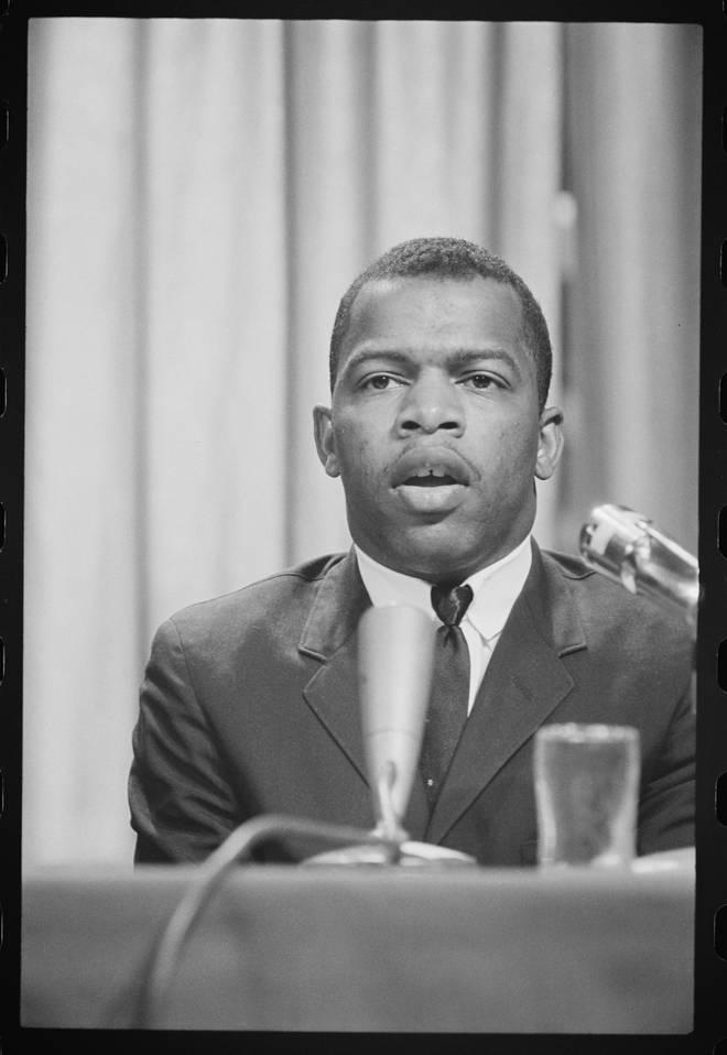 John Lewis speaks in Washington DC in 1964