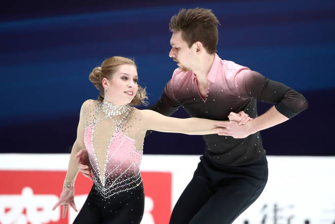 Australia's Ekaterina Alexandrovskaya (L) and Harley Windsor perform