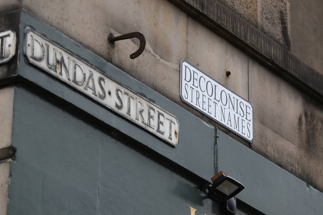An installation on Dundas Street in Edinburgh