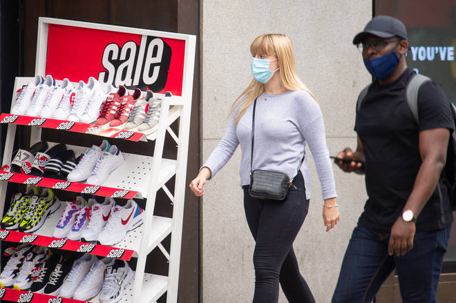 Face coverings will become compulsory in shops on July 24