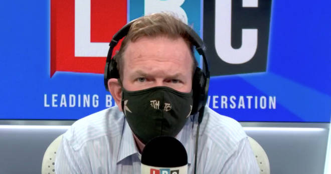 James O'Brien wore his facemask to show it's not a big deal