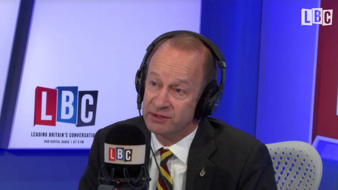 UKIP leader Henry Bolton in the studio with Nick Ferrari