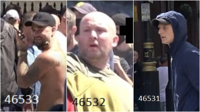 Officers are seeking these men after incidents in London