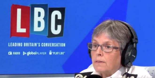 Dame Cressida Dick was speaking to Nick Ferrari on LBC.