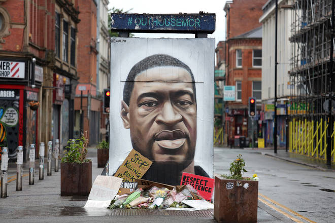 The mural was painted in Stevenson Square by Manchester street artist Akse