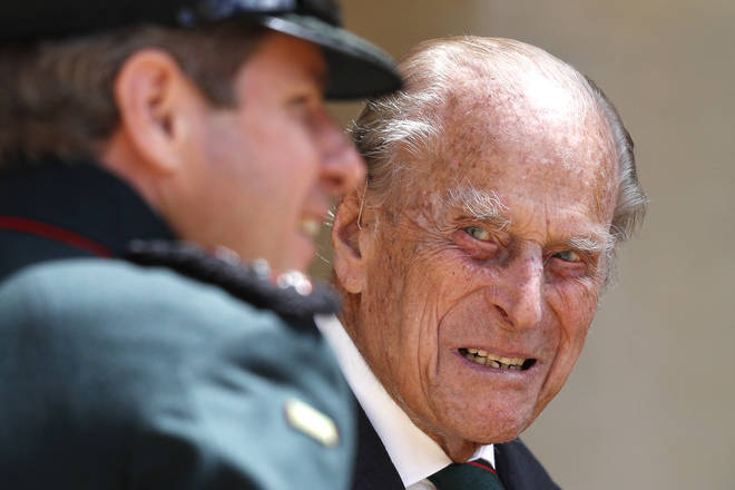 Prince Philip shared a mischievous joke with a soldier about his fitness levels