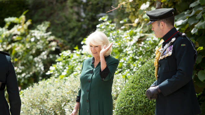 Camilla accepted the honour in the second half of the ceremony