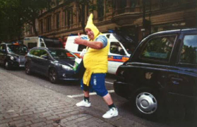 Kevin Cole, aka Banana Man, has been charged with two counts of fraud