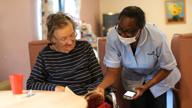 Care home residents will be able to reunite with their families