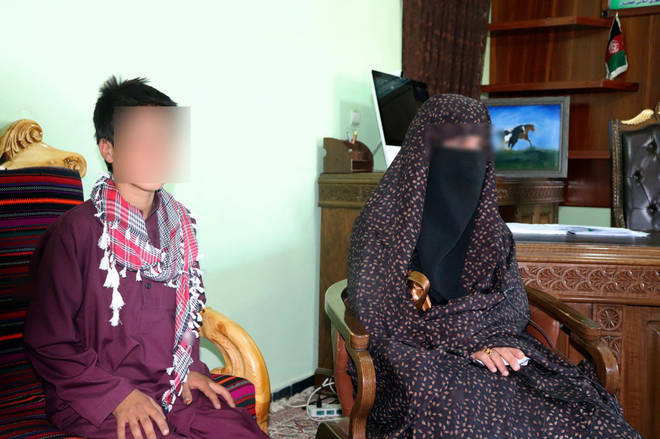 The two teenagers in the governor's office in Feroz Koh