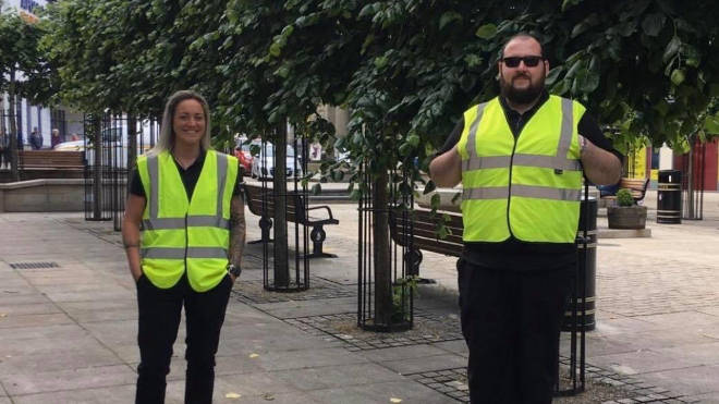 Street marshals are ensuring Cornwall's high streets are Covid-secure