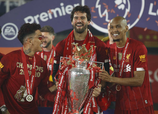 Fabinho (L) was burgled during the celebrations